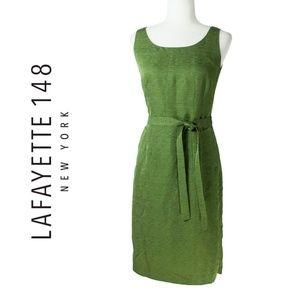 Lafayette 148 New York Petite Green Silk Dress